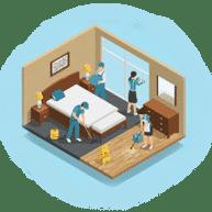 Чистая комната регулярно