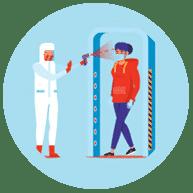 Односторонний доступ предотвращает COVID-19